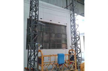 10m ar alumīnija virvi piekarināta platforma zlp1000 vienfāzes 2 * 2.2kw
