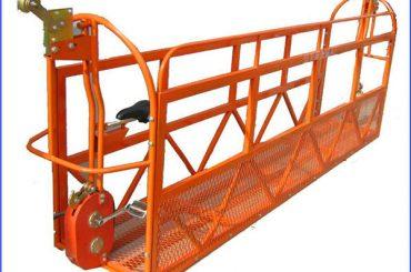 1.8kw 8kn zlp 800 izturīga piekares darba platforma ar 8,6 mm diametru tērauda trosēm