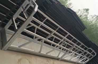 zlp630 / 800 ll formas alumīnija sakausējums, tērauda konstrukcijas piekares darba platformas pacelšana uz ēkas logiem