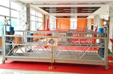 ZLP630 alumīnija piekares platforma (CE ISO GOST) / augstas izlādes logu tīrīšanas aprīkojums / pagaidu gondola / šūpulis / šūpoles posms karsti