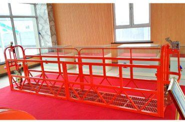 Tērauda piekares platformas 7.5m 1.8kw 800kg ēkas uzturēšana