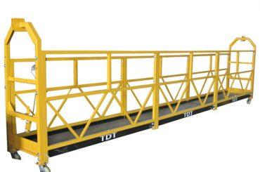 Tērauda karsti cinkota alumīnija sakausējuma virves piekaramā platforma 1.5KW 380V 50HZ