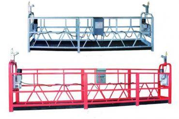 zlp 630 troses piekares platforma, gaisa darbi, šūpoles posms sastatnes ar plastmasas izsmidzināmu krāsu