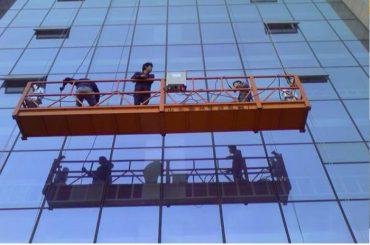 stipra konstrukcijas virves piekarināmā platforma ar 30kn drošības spraudni zlp1000 2.2kw 2.5m * 3