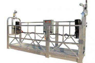 ZLP sērija karsti cinkota / alumīnija piekares platformas korpuss augstceltņu sienu krāsošanai, stikla tīrīšana