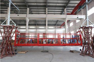 10 metri ar alumīnija sakausējuma pakarināmo darba platformu ar pacēlāju lt8.8