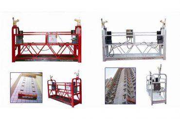 troses piekārtais piekares platforma, zlp630 celtniecības pacēlājs gondolas mašīna